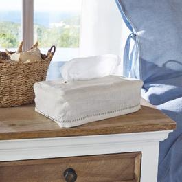 Housse pour boîte à mouchoirs Monthelie blanc