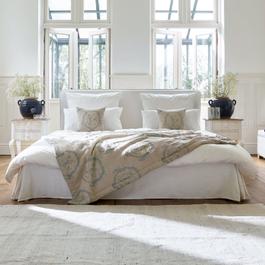 Parure de lit Melleroy blanc/gris