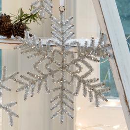 Lot de 5 décorations de Noël Snowflake