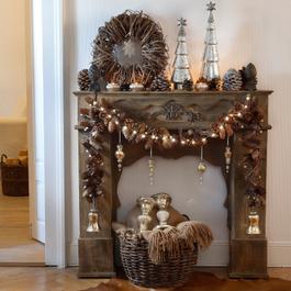 Console de cheminée Margaux marron