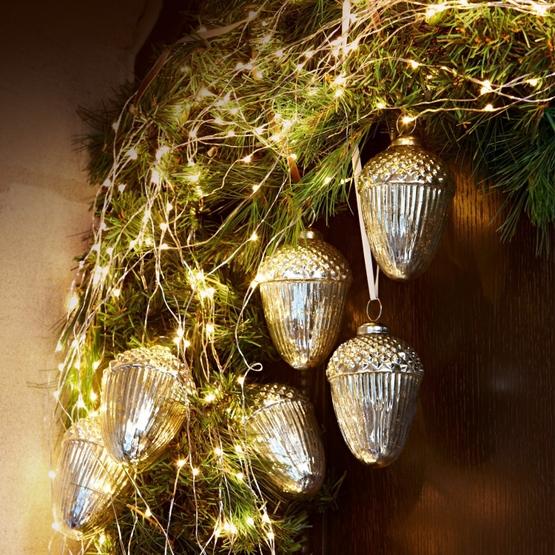 Lot de 6 décorations de Noël Gland