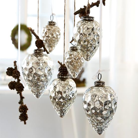 Lot de 6 décorations de Noël Colin
