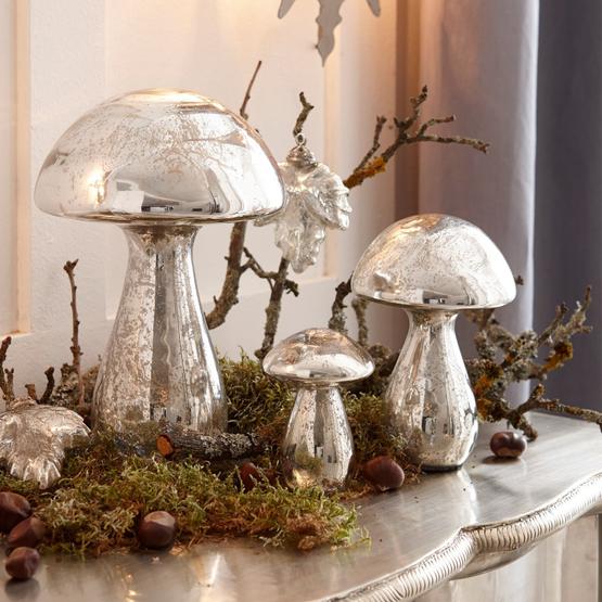 Lot de 3 décorations champignon Périgord
