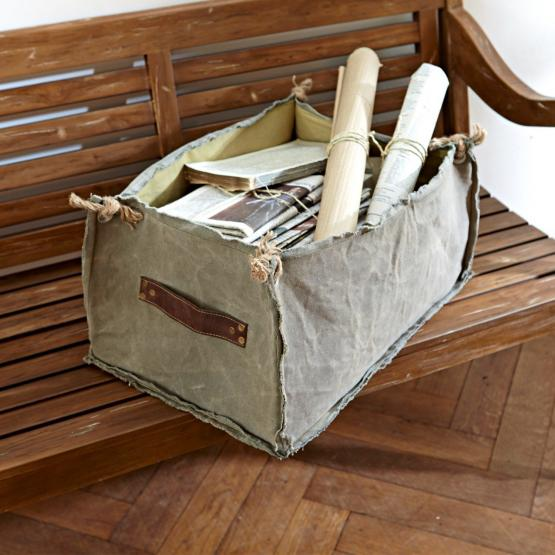panier de rangement en tissu baily loberon. Black Bedroom Furniture Sets. Home Design Ideas