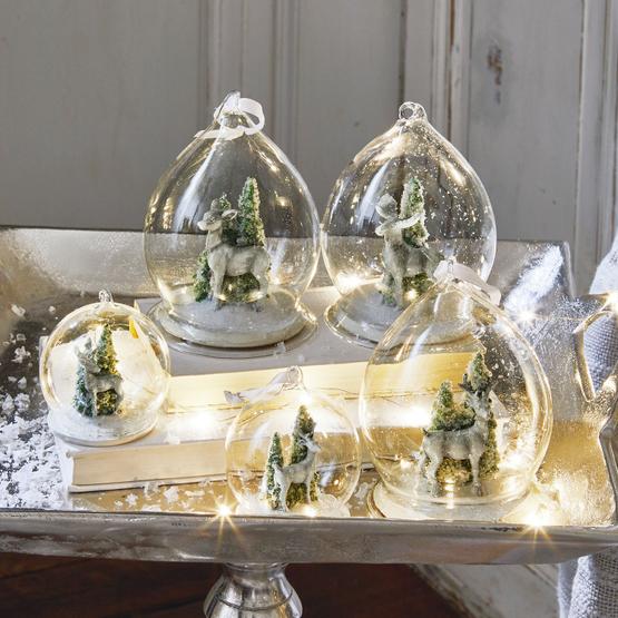 Lot de 5 décorations de Noël Winterforest
