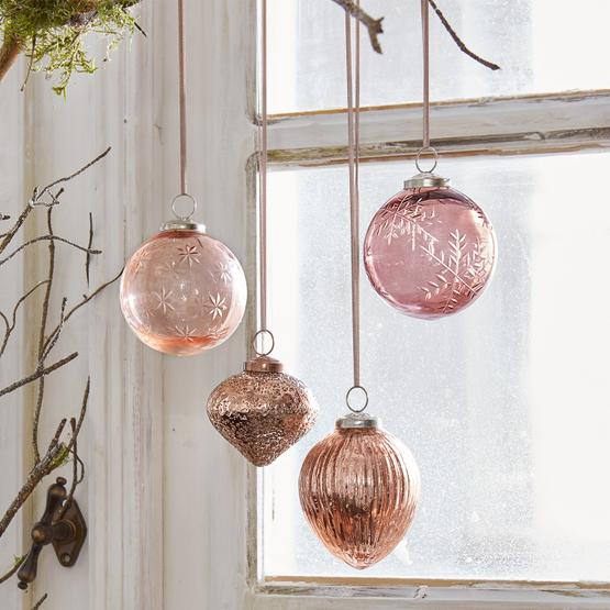 Lot de 4 décorations de Noël Katie