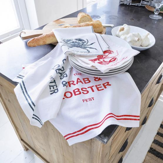 Lot de 4 serviettes Lobster