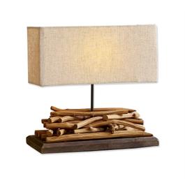 Lampe à poser Caribou marron/lin