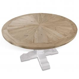 Table Sturbridge marron/blanc