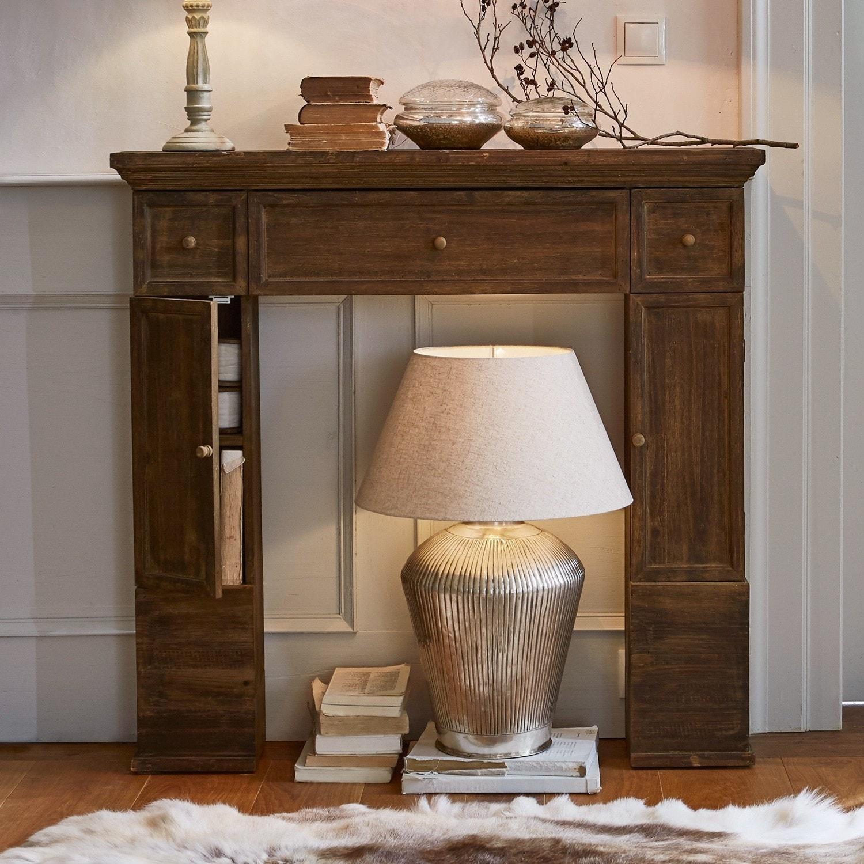 console de chemin e konterra marron loberon. Black Bedroom Furniture Sets. Home Design Ideas