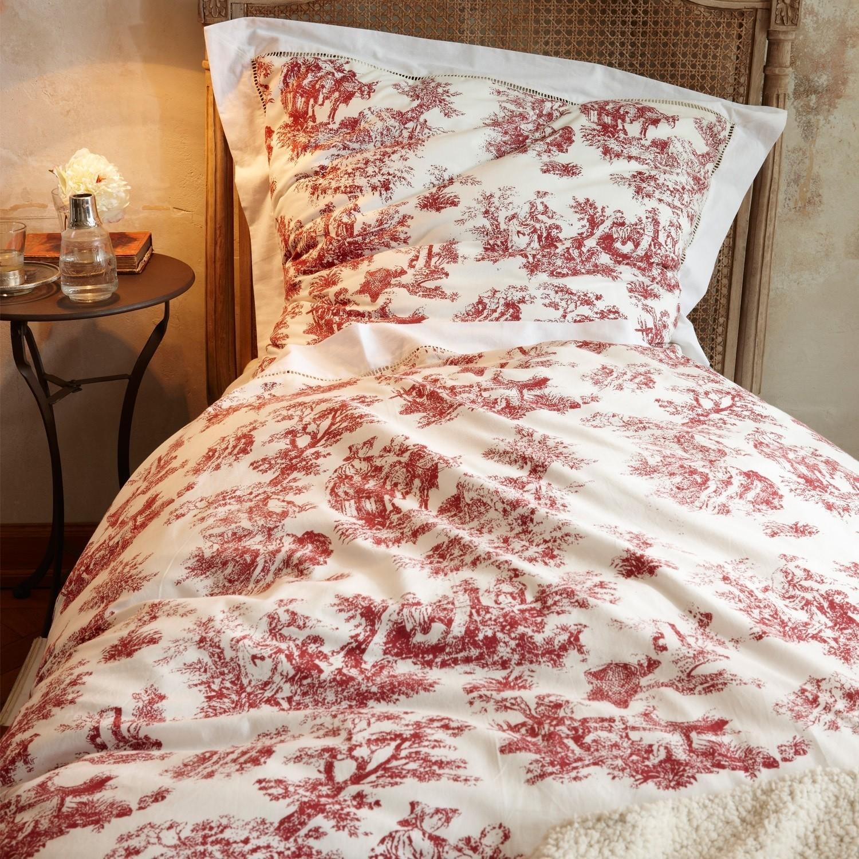 parure de lit toile rouge loberon. Black Bedroom Furniture Sets. Home Design Ideas