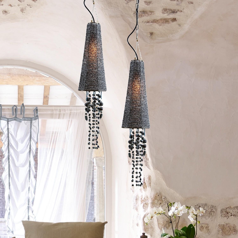 lampe suspendre lilibeth gris loberon. Black Bedroom Furniture Sets. Home Design Ideas