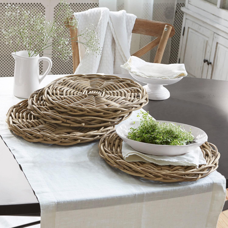 set de 4 dessous d assiette carla loberon. Black Bedroom Furniture Sets. Home Design Ideas