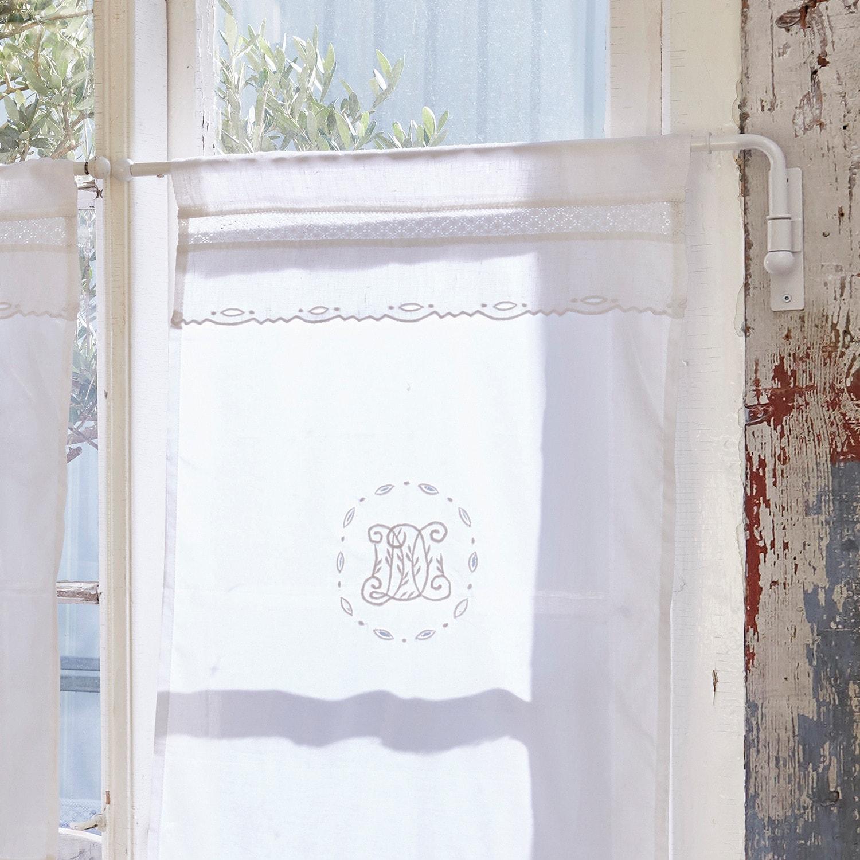 tringle rideaux epping blanc vieilli loberon. Black Bedroom Furniture Sets. Home Design Ideas